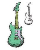 Guitar,Sketch,Rock and Roll,Disco,Pop,Electricity,Music,Playing,Power,Vector,Hand-drawn,Arts And Entertainment,Music,Reverb,Support,Energy,Sound,Fun,Drive