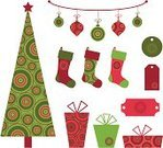 Christmas,Holiday,Christmas Tree,Retro Revival,Christmas Stocking,Christmas Ornament,Tree,Gift,Label,Symbol,Pattern,Christmas Decoration,Icon Set,Party - Social Event,Sock,Design Element,Computer Graphic,Green Color,Decoration,Gift Box,Pink Color,Set,Circle,Design,Red,Hanging,Shape,Fun,Group of Objects,Gift Tag,Clip Art,Box - Container,Spotted,Cheerful,Happiness,Celebration,Ribbon,Multi Colored,No People,Vector Ornaments,Isolated On White,Illustrations And Vector Art