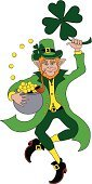 Leprechaun,Dancing,Folk Dancing,Irish Culture,Pot Of Gold,Clover,Fairy,Traditional Dancing,Celtic Culture,Holidays And Celebrations,People,Cultures,Mythology,Illustrations And Vector Art