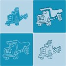 Toy Truck,Dump Truck,Truck,Pick-up Truck,Semi-Truck,Tire,Objects/Equipment,Illustrations And Vector Art,Transportation,box truck,Vector Icons,Industrial Objects/Equipment,Pencil Drawing,Diesel,Ilustration,Wheel,Construction Industry,Equipment