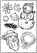 Snowman,Santa Claus,Flower,Decoration,Ribbon,Bow,Vector,Exhilaration,Christmas,Knick Knack,Ornate,Scarf,Frame,Holidays And Celebrations,Christmas,Bow,Design,Part Of,Christmas Decoration,Joy,Leaf,Design Element,Illustrations And Vector Art,Isolated Objects,Happiness,Hat,Vector Ornaments,Decorating,Beauty,Smiling