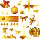 Christmas,Bell,Christmas Present,Christmas Decoration,Gold Colored,Banner,Religious Icon,Candle,Bow,Christmas Ornament,Gift,Holly,Design Element,Bow,Group of Objects,Sleigh Bells,Vector,Ribbon,Decoration,Collection,Winter,Large Group of Objects,Star Shape,Single Object,Celebration,Tied Knot,Ornate,Ilustration,Isolated,Candy Cane,December,Multiple Image,Christmas,Illustrations And Vector Art,Holidays And Celebrations,Isolated Objects