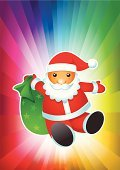 Santa Claus,Sack,Christmas,Ilustration,Multi Colored,Holidays And Celebrations,Christmas,Winter,New Year's,Celebration,Vector,Greeting,Backgrounds,Star Shape