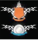 Sports Race,Insignia,Sign,Trophy,Flag,Checkered Flag,Checked,Sport,Vector,Auto Racing,Label,Wing,Chrome,Shield,Metallic,Award,Seal - Stamp,Badge,Circle,Coat Of Arms,Locket,Success,Banner,Symbol,Design Element,Shiny,Illuminated,Shape,Silver Colored,Award Plaque,Medallion,template,Blank,Steel,Artificial,Bright,Isolated,Sports And Fitness,Achievement,Respect,Competition,Sports Symbols/Metaphors,Incentive,Placard