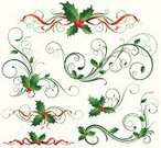 Christmas,Holly,Ribbon,Ribbon,Holiday,Swirl,Vector,Design,Decoration,Scroll Shape,Scroll,Design Element,Berry Fruit,Green Color,Winter,Ilustration,Red,Elegance,Abstract,Flowing,Curve,Illustrations And Vector Art,Holidays And Celebrations,Christmas,Holly Leaves,Holiday Symbols,Vector Ornaments,graphic element,stylization