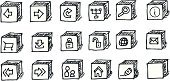 Doodle,Web Page,Computer Icon,Icon Set,Symbol,Dirty,Grunge,Internet,Interface Icons,widgets,Shopping Cart,Searching,E-Mail,web icons,Sign,Technology,Isolated Objects,Illustrations And Vector Art,Assistance,Downloading