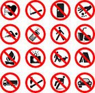 Mobile Phone,Telephone,Sign,Exclusion,Forbidden,Symbol,Smoking,Stop,Dog,Camera - Photographic Equipment,Computer Graphic,Cigarette,People,Black Color,Danger,Risk,White,Clip Art,Healthy Lifestyle,Circle,Vector,Law,Advice,Communication,Shiny,Red,Ilustration,Isolated,Illustrations And Vector Art,Alertness,Reflection,Vector Icons