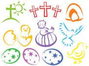 Cross,Cross Shape,Easter,Dove - Bird,Symbol,Young Bird,Religious Icon,Computer Icon,Eggs,Empty,calvary,Hatching,Spirituality,Religion,empty tomb,Baby Chicken,Clip Art,Easter Egg,Bird,Ilustration,Season,Celebration Event,Hatchling,Holiday,Isolated,Illustrations And Vector Art,Group of Objects,Cut Out