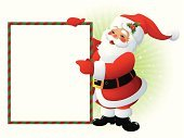Santa Claus,Christmas,Letter,Sign,Frame,Invitation,Cartoon,Blank,Blackboard,Ilustration,Label,Vector,Humor,Holiday,Empty,Fun,Winter,Writing,Red,Season,White,Holidays And Celebrations,New Year's,Christmas,Holiday Backgrounds,Smiling