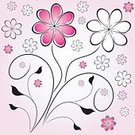 Beauty,Decoration,Floral Pattern,Swirl,Flower,Plant,Illustrations And Vector Art,Leaf,Nature,Flowers,Curled Up,Vector,Ornate,Curve,Elegance,Nature