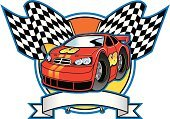 Racecar,Stock Car,Checkered Flag,Motorsport,Tire,Sport,Computer Graphic,Driving,Speed,Drive,Banner,Engine,Placard,Vector Cartoons,Transportation,Illustrations And Vector Art,Sports And Fitness,Competition