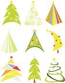 Christmas Tree,New Year's Day,holyday,Ilustration,Vector,Set,Green Color,Cultures,Holiday Symbols,Vector Ornaments,Holidays And Celebrations,Illustrations And Vector Art,Christmas