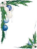Christmas,christmas frame,Frame,Garland,Christmas Ornament,Blue,Vector,Angle,Christmas Decoration,Tree,Branch,White,Green Color,Decoration,Ribbon,No People,Sphere,Bow,Bow,Shiny,Hanging,Celebration,Turquoise,Pine Tree,Season,Man Made Object,Design Element,White Background,Illustrations And Vector Art,Vector Backgrounds,Christmas,Holidays And Celebrations,Holiday Backgrounds