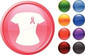 T-Shirt,Breast Cancer Awareness Ribbon,Breast Cancer,Computer Icon,Symbol,Support,Clothing,Design,Pink Color,Ribbon,Computer Graphic,Ilustration,Red,Vector,Sparse,Purple,Empty,Digitally Generated Image,Shiny,Modern,Black Color,Blue,Green Color,Orange Color
