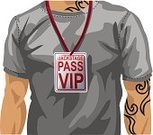 Backstage Pass,First Class,Popular Music Concert,T-Shirt,Badge,Tattoo,Men,Success,Chest,Human Neck,Vector,Important,Necklace,Male,One Person,Casual Clothing,Close-up,Caucasian Ethnicity,Individuality,Part Of,Vector Cartoons,White Background,Success,Around Neck,Illustrations And Vector Art,Tied Knot,Square,Front View,Concepts And Ideas,Vip Pass,Ilustration,People