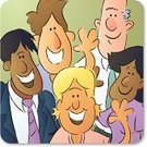 Separation,Group Of People,Waving,Friendship,Cartoon,Greeting,Occupation,Human Resources,Leaving,Cheerful,Team,Happiness,Ilustration,Small Group Of People,Vector,Medium Group Of People,Smiling,Five People