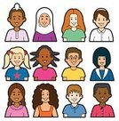 Islam,Child,Middle Eastern Ethnicity,Ethnicity,Jewish Ethnicity,Multi-Ethnic Group,Little Girls,Little Boys,Sikhism,Clip Art,Ilustration,Vector,Asian Ethnicity,Head And Shoulders,African Descent,Latin American and Hispanic Ethnicity,North America,Mediterranean Countries,Celtic Culture,Southern European Descent,Vector Icons,Vector Cartoons,People,Illustrations And Vector Art,Northern European Descent,Afro-Caribbean Ethnicity