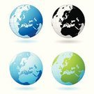 Globe - Man Made Object,Earth,Europe,Sphere,Planet - Space,Vector,Ilustration,Symbol,Illustrations And Vector Art,continent