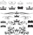 Crown,Vector,Decoration,Scroll Shape,Frame,Ornate,Swirl,Design,Sketch,Embroidery,Design Element,Line Art,Black And White,Old-fashioned,Backgrounds,Drawing - Art Product,Art,Computer Graphic,Royal Person,Modern,Ilustration,Clip Art,Composition,Elegance,Creativity,Beautiful,Art Product,Classical Style