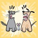 Domestic Cat,Dog,Conflict,Arguing,Cartoon,Mouse,Leadership,Comparison,Humor,Art,Cute,Clip,Drawing - Art Product,Failure,Anger,Territorial,Meeting,Vector,Abstract,Pets,arbitrage,Rivalry,Candid,Canine,Discussion,Illustrations And Vector Art,Concepts,Survival,Success,Terrified,Ilustration