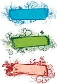 Banner,Butterfly - Insect,Swirl,Blue,Leaf,Flower,Single Flower,Grunge,Frame,Vector,Dirty,Nature,Art,Springtime,Green Color,Red,Plant,Ornate,Decoration,Scroll Shape,Curve,Ilustration,Design Element,Beauty,White,Beauty In Nature,Painted Image,Flying,Vector Ornaments,Illustrations And Vector Art,Nature,Gardens