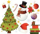 Christmas,Snowman,Tree,Poinsettia,Symbol,Cartoon,Gift,Computer Icon,New,Holly,Year,Hat,Flower,Vector,Cute,Candy,Art,Isolated,Candle,Modern,Snow,Ilustration,Set,Box - Container,Image,Leaf,Decoration,Bow,Winter,Celebration,Shiny,Green Color,Ribbon,Red,Star Shape,Bow,Sphere,Scarf,Gold Colored,Holidays And Celebrations,Christmas,Holiday Symbols,Vector Cartoons,Illustrations And Vector Art,Painted Image,Season,Berry Fruit,Creativity,Holiday,Sweet Food