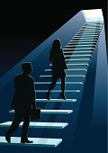 Steps,Staircase,Moving Up,Walking,Silhouette,Business,The Next Step,Women,People,Occupation,Business Person,Leadership,The Way Forward,Success,Leaving,Men,Business Relationship,Looking Up,Forecasting,Vector,Entering,Businessman,Spotlight,Businesswoman,Rat Race,Urban Scene,Urgency,Concepts,Progress,White,Office Worker,Design,Light - Natural Phenomenon,Vertical,Black Color,New,Blue,Competition,Full Length,Ideas,Modern,Art,Projection,Ilustration,Business,Concepts And Ideas,White Collar Worker,Unrecognizable Person,Illustrations And Vector Art,Copy Space