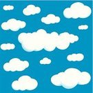 Cloud - Sky,Cloudscape,Vector,Sky,Ilustration,Pattern,Backgrounds,Summer,Repetition,Springtime,Wallpaper Pattern,Fabric Swatch,Vector Backgrounds,Nature Backgrounds,Nature,Illustrations And Vector Art