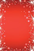 Firework Display,Frame,Christmas,Red,Star Shape,Backgrounds,Celebration,Holiday,Pattern,Shiny,Light - Natural Phenomenon,Christmas,Winter,Vector Backgrounds,Illustrations And Vector Art,Design,Nature,Holidays And Celebrations