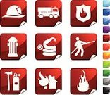 Firefighter,Fire - Natural Phenomenon,Fire Engine,Fire Extinguisher,Fire Hose,Symbol,Computer Icon,Fire Hydrant,Icon Set,Label,Flame,Stick Figure,Red,Hardhat