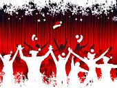Christmas,Party - Social Event,Dancing,People,Teenager,Holiday,Crowd,Adult,Event,Silhouette,Celebration,Winter,Friendship,Music Festival,Snow,Adulation,Season,White,Rear View,Hat,Decoration,Vector,Fun,Pattern,Nightlife,Backgrounds,Art,Red,Abstract,Entertainment,Human Hand,Young Adult,Design,Paintings,Night,Happiness,Snowflake,Parties,Christmas,People,Holidays And Celebrations,Painted Image