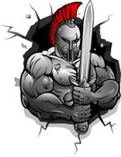 Warrior,Sparta,Body Building,Roman,Suit of Armor,Work Helmet,Human Muscle,Greek Culture,Sword,Vector,Conflict,Strength,Weapon,Human Hand,Design,Styles,Ideas,Power,Security,Part Of,Painted Image,Illustrations And Vector Art,Remote,History,Red,Heavy,People,Design Element