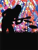 Poster,Rock and Roll,Popular Music Concert,Music Festival,Musical Band,Guitar,Silhouette,Party - Social Event,Event,Musician,Playing,Non-Urban Scene,Fan,Singing,Night,Artist,Modern Rock,Arts And Entertainment,Illustrations And Vector Art,Entertainment,Nightlife,Music,Performer,advertise,Sound,Play