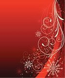 Christmas,Backgrounds,Swirl,Star - Space,Holiday,Christmas Card,Red,Star Shape,Celebration,Snowflake,Winter,Abstract,Vector,Scroll Shape,Scroll,Design,Elegance,Modern,Ilustration,Ornate,Flowing,Wave Pattern,Copy Space,Christmas,Holidays And Celebrations,Holiday Backgrounds,Illustrations And Vector Art