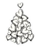 Christmas,Heart Shape,Tree,Love,Retro Revival,Outline,Black Color,Gift,Vector,Christmas Decoration,Decoration,Valentine's Day - Holiday,Shape,Backgrounds,Art,Striped,I Love You,Abstract,Style,Elegance,Holiday,Heap,Design,Fantasy,Ilustration,Beauty,Creativity,Cool,Painted Image,Copy Space,No People,Curve,Nature Abstract,Isolated-Background Objects,Isolated Objects,Christmas,Wallpaper Pattern,Holidays And Celebrations,Nature,White Background,Beautiful