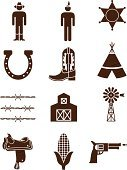 Cowboy,Cowboy Boot,Wild West,Symbol,Saddle,Teepee,Windmill,Icon Set,Ranch,Barn,Farm,North American Tribal Culture,Vector,Gun,Barbed Wire,Corn,Tent,Non-Urban Scene,Police Force,Corn On The Cob,American Tribal Culture,Badge,Ilustration,Bullet,Men,Wood Grain,Clip Art,Star Shape,Target Shooting,Luck,Little Boys,Weapon,Brown