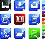 Downloading,Paperwork,Book,Document,CD,Symbol,DVD,Chores,File,Computer Icon,Palmtop,Label,Calculator,Icon Set,Ring Binder,Laptop,Note Pad,Mathematical Symbol,Check Mark,Mathematics,Mail,Vector,Digitally Generated Image,Clipboard,Letter,Envelope,Globe - Man Made Object,Pencil,Elegance,Sphere,Planet - Space