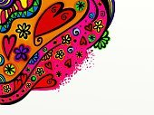 268616,Horizontal,Frame,Copy Space,Abstract,Simplicity,Flower,Computer Graphics,Craft,Art And Craft,Art,Doodle,Painted Image,Scrapbook,Cheerful,Illustration,Shape,2015,Computer Graphic,Heart Shape,Decoration,Picture Frame,Backgrounds,Photography,Design,Vibrant Color,Pattern
