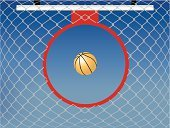Basketball Hoop,Basketball,Basketball - Sport,Net - Sports Equipment,Sport,Netting,Sky,Illustrations And Vector Art,Circle,Looking Up,Directly Below