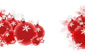 Christmas,Banner,Red,Christmas Ornament,Snowflake,White,Holiday,Backgrounds,Christmas Decoration,Horizontal,Ilustration,Sphere,Winter,National Holiday,Design Element,Celebration,Vibrant Color,Group of Objects,Decoration,Decor,Pattern,Ornate,No People,Glass - Material,Isolated,Abstract,Copy Space,New Year's Eve