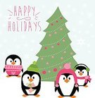 Humor,New,Cute,Holiday - Event,Christmas,Cheerful,Cards,Snowflake,Illustration,Nature,2015,Happiness,Winter,Bird,Modern,Fun,Vector,White Color