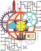 Abstract,Futuristic,Innovation,Computer Network,Global Communications,Sign,Brain,Global Business,Science,Illustration,Business Finance and Industry,Global,2015,Human Brain,Technology,Human Internal Organ,Communication,Backgrounds,Television Industry,Business,Vector,Design,Pattern