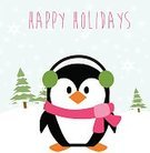 Humor,Caucasian Ethnicity,New,Cute,Holiday - Event,Christmas,Cheerful,Cards,Snowflake,Illustration,Nature,2015,Happiness,Winter,Bird,Fun,Vector,White Color