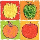 Apple - Fruit,Fruit,Healthy Eating,Textured,Grunge,Vector,Leaf,Autumn,Granny Smith Apple,Red,Ilustration,Vibrant Color,Brush Stroke,Green Color,Nature,Four Objects,Simplicity,Sweet Food,Multi Colored,Gourmet,Fuji Apple,Orange Color,Yellow,Cripps Pink Apple ,Grained,Clip Art,Golden Delicious Apple,Grooved,Stem,Fall,Red Delicious Apple,Fruits And Vegetables,Saturated Color,Rome Beauty,Braeburn Apple,Nature,Illustrations And Vector Art,Spartan Apple,Bumpy,Food And Drink,Russet Apple,Gala Apple
