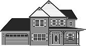 House,Garage,Victorian Architecture,Vector,Residential District,Construction Industry,Residential Structure,Roof,Building Exterior,Community,Porch,Suburb,Housing Development,Shutter,Window,Ilustration,Architectural Detail,Homes,Construction,Industry,Door,Real Estate,Built Structure,Architecture And Buildings