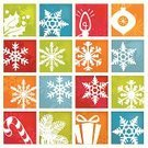 Holiday,Christmas,Symbol,Backgrounds,Winter,Orange Color,Green Color,Snowflake,Blue,Red,Tree,Christmas Ornament,Design Element,Vector,Decoration,Christmas Decoration,Ilustration,Star Shape,Ornate,Vector Icons,Illustrations And Vector Art,Christmas,Winter,Holidays And Celebrations,Nature