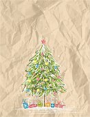 Christmas Tree,Christmas,Christmas Present,Paper,Tree,Crumpled,Paint,Drawing - Art Product,Gift,Snow,Abstract,Snowflake,Green Color,Box - Container,Christmas Ornament,Nature,Ilustration,Holiday,Star Shape,Beautiful,Decoration,Winter,Christmas,Computer Graphic,New Year's,Shape,Holiday Backgrounds,Holidays And Celebrations,Vector,Alder Tree,Color Image,Pine Tree,Design,New