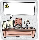 Computer,Error Message,Order,Repairing,Telephone,Support,Cartoon,Failure,IT Support,Problems,Bsod,Rtfm,Desk,Communication,Surprise,On The Phone,Breaking,Humor,CPU,Occupation,Weakness,Message,Technology,Defeat,Desktop PC,Computer Monitor,Blue Screen Of Death,Art,room for text,Computer Bug,Assistance,Vector,Concepts And Ideas,Illustrations And Vector Art,Ilustration