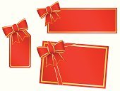 Christmas,Greeting Card,Label,Gift,Bow,Holiday,Greeting,Bow,Ribbon,Season,Vector,Isolated,Blank,Red,Packaging,Gold Colored,Personal Accessory,Copy Space,Ilustration,Decoration,Celebration,Illustrations And Vector Art,Holidays And Celebrations,Christmas,New Year's