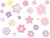 Flower,Symbol,Backgrounds,Vector,Female,Pink Color,Summer,Computer Graphic,Christmas Decoration,Cheerful,Shape,Ilustration,Purple,Ornate,Plant,Happiness,Illustrations And Vector Art,Decoration,Fashion,Flowing,Fragility